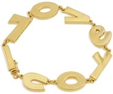 "Peace Love World ""I Love You"" Gold Bracelet"