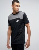 Nike Pocket T-shirt In Colour Block In Black 834727-010