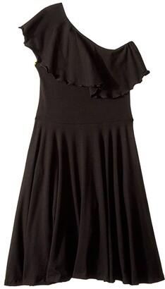 fiveloaves twofish Zoe One Shoulder Knit Dress (Little Kids/Big Kids) (Pink) Girl's Dress
