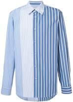 Marni contrast stripe shirt