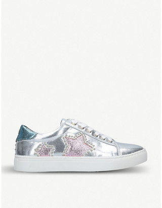 Miss KG Lucie metallic faux-leather trainers