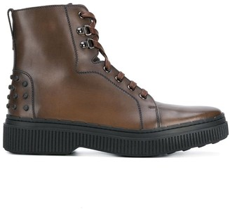 Tod's lace-up Chelsea boots