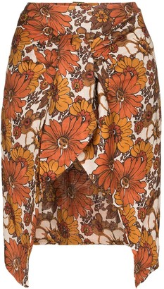 Dodo Bar Or Mosa floral wrap mini skirt