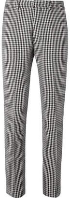 Ami Slim-Fit Houndstooth Virgin Wool-Blend Trousers
