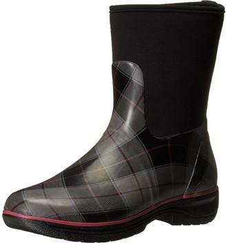 Western Chief Women's Seattle Plaid Neoprene Mid Rain Boot