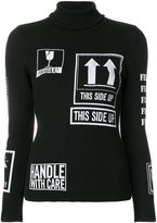 Moschino Handle With Care turtleneck sweater