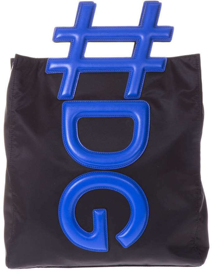 Dolce & Gabbana Black Insta Handbag With Logo