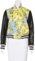 Rag & Bone Floral & Leather Bomber Jacket