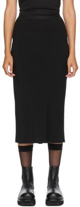 Rick Owens Black Crepe Mid-Length Skirt