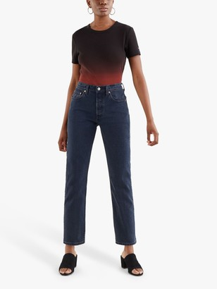 Levi's 501 Cropped Jeans, Deep Dark Blue
