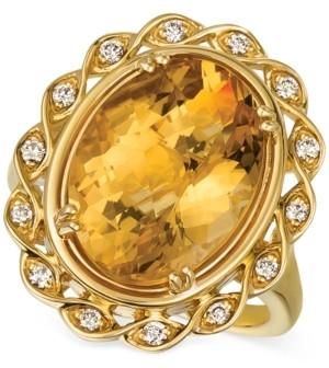 LeVian Le Vian Cinnamon Citrine (7-1/4 ct. t.w.) & Nude Diamonds (1/5 ct. t.w.) Statement Ring in 14k Gold