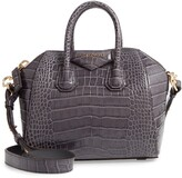 Givenchy Mini Antigona Croc Embossed Calfskin Leather Satchel