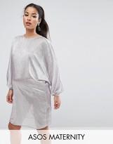 Asos Metallic Oversized Mini Dress