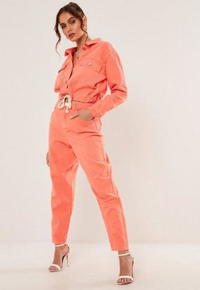 Missguided Co Ord Super Wide Leg Highwaisted Tapered Jeans