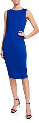 St. John Milano Knit Bateau-Neck Dress