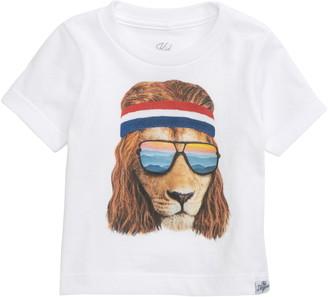 Kid Dangerous Lion Shades Graphic T-Shirt