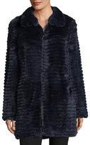 Belle Fare Reversible Layered Rabbit Fur Coat