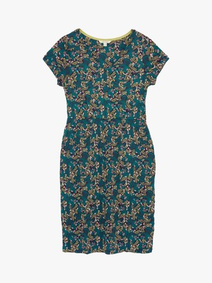White Stuff Chloe Garden Bird Print Dress, Green