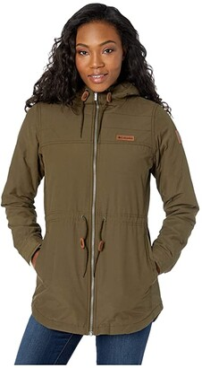 Columbia Chatfield Hilltm Jacket (Olive Green/Chalk Sherpa) Women's Coat