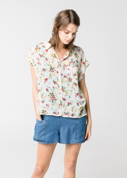 MANGO Outlet Rolled-Up Sleeve Blouse