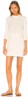 James Perse Rib Sleeve Blouson Dress