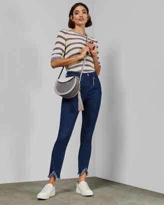 Ted Baker Frayed Hem Slim Fit Jeans