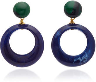 Gas Bijoux Ischia 24K Gold-Plated Brass And Acetate Earrings
