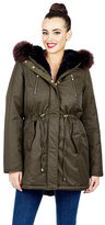 Betsey Johnson Oh So Betsey Faux Fur Lined Parka