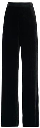 Etro High-rise Velvet Wide-leg Trousers - Black