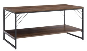 "Walker Edison 40"" Industrial Metal Accent Coffee Table"