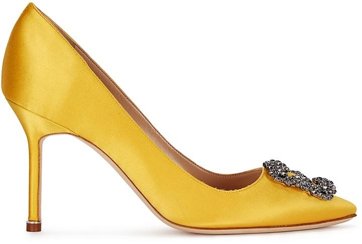 Manolo Blahnik Yellow Shoes For Women