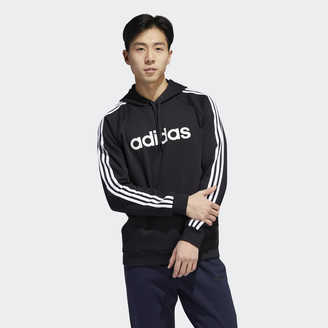 adidas 3-Stripes Linear Logo Pullover Hoodie