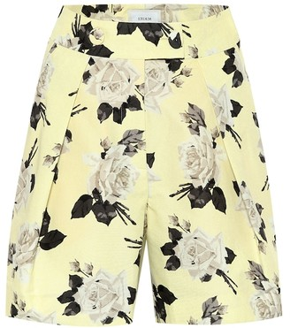 Erdem Howard high-rise floral cotton shorts