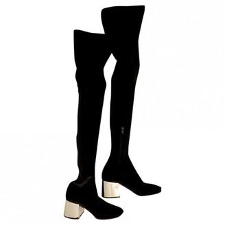 Maison Margiela Black Velvet Boots