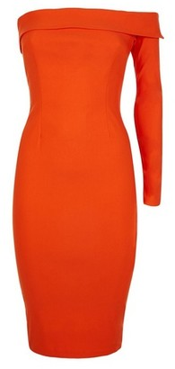 Dorothy Perkins Womens Vesper Orange Bodycon Dress, Orange