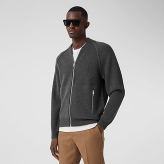Burberry Doube-faced Woo Cashmere Bend Bomber Jacket