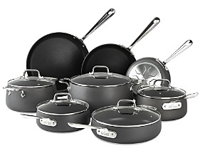 All-Clad Hard Anodized Nonstick 13-Piece Cookware Set
