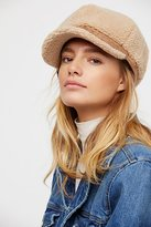Free People Eloise Faux Shearling Lieutenant Hat