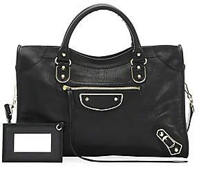 Balenciaga Women's Medium Classic City Metallic Edge Leather Satchel