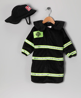 Rubie's Costume Co Black Firefighter Dress-Up Bunting & Hat - Infant