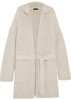 ATM Anthony Thomas Melillo Hooded Wool-blend Cardigan - Ivory