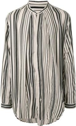 Julius Striped Stand-Collar Shirt