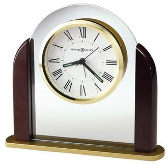 Howard Miller Derrick Table Clock 645–602 – Crystal & Polished Brass with Quartz Movement