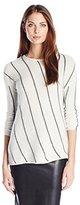 Velvet by Graham & Spencer Women's Graphic Stripe Sweater