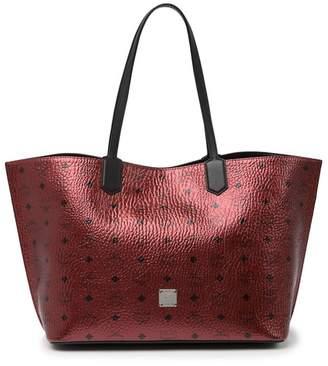 MCM Medium Spot Visetos Leather Shopper