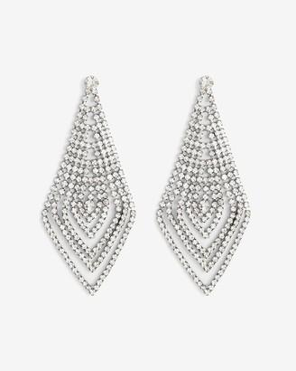 Express Rhinestone Multi-Row Diamond Drop Earrings