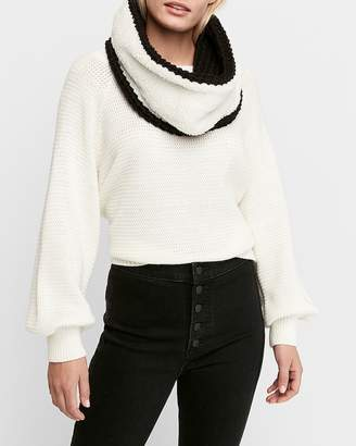 Express Reversible Chunky Knit Sherpa Snood