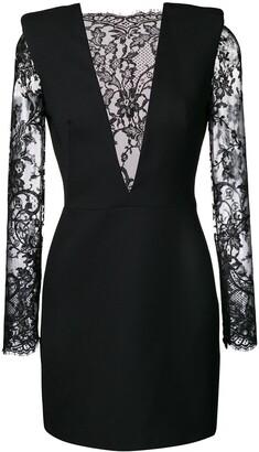 Alexander McQueen lace panel dress