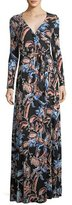 Rachel Pally Harlow Long-Sleeve Floral-Print Jersey Wrap Dress, Plus Size