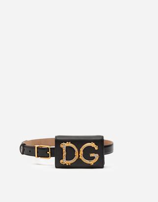 Dolce & Gabbana Plain Calfskin Girls Belt